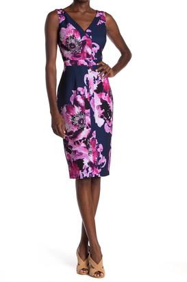 trina Trina Turk Rei Floral Print Sheath Dress