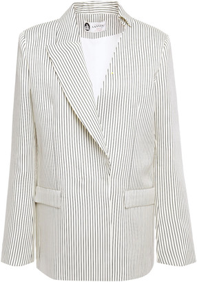 Lanvin Crystal-embellished Striped Silk-blend Twill Blazer