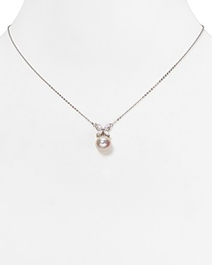 Majorica Simulated Pearl Butterfly Pendant Necklace, 16