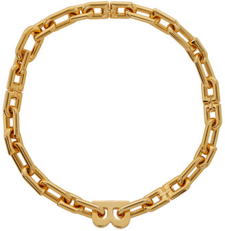 Balenciaga Gold B Chain Necklace