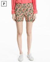 White House Black Market Petite Floral Print Coastal Stretch Shorts