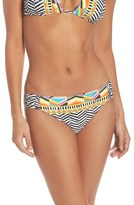 Trina Turk Women's Brasilia Shirred Hipster Bikini Bottoms