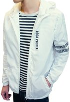 URBANFIND Men's Regular Fit Spring & Autumn Hooded Varsity Jacket