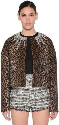 Giambattista Valli Embellished Virgin Wool & Lama Jacket