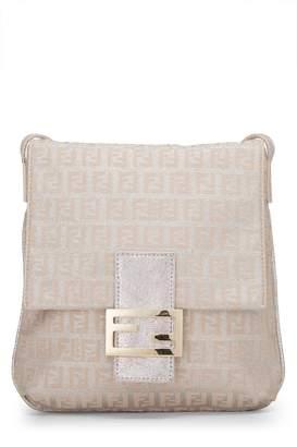 Fendi Pink Lurex Zucchino Canvas Messenger Bag