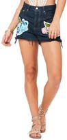 Missguided Women's Embroidered High Rise Shorts
