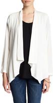 Bobeau Open Front Woven Jacket (Petite)