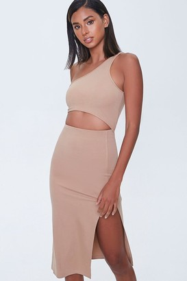 Forever 21 Cutout One-Shoulder Dress