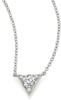 Hearts On Fire Triplicity 18K White Gold & Diamond Triangle Pendant Necklace