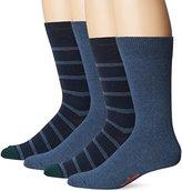 Dockers 2 Pack Stripe Crew Socks