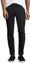ATM Anthony Thomas Melillo Melange Moto Slim-Straight Pants, Black