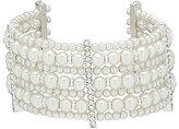 Cezanne Rhinestone & Faux-Pearl Cuff Bracelet