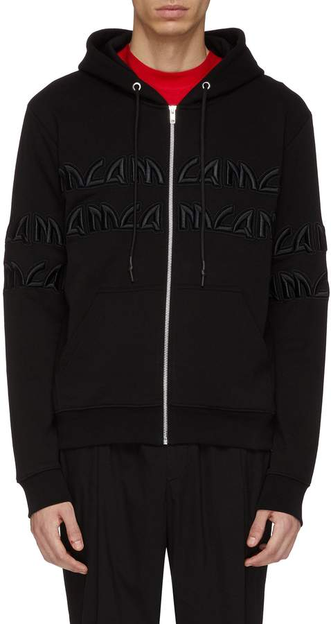McQ Logo embroidered zip hoodie
