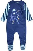 Mothercare BOYS ROCKET WADDED BABY Babygrow blue