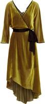 Diane von Furstenberg Eloise Wrap-effect Satin-trimmed Devore-mesh Dress