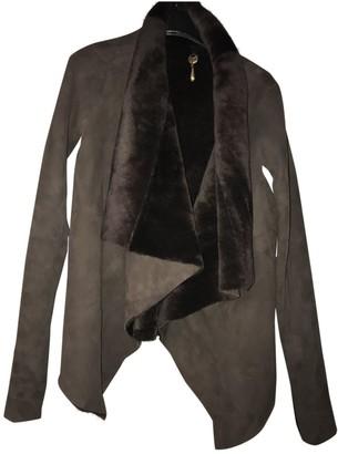 Rick Owens Brown Shearling Coat for Women