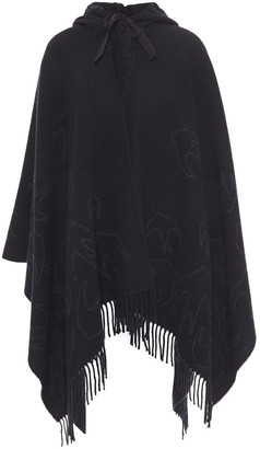McQ Brushed Wool-blend Jacquard Wrap