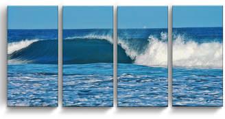 "Ready2HangArt Ocean Motion 4 Piece Wrapped Canvas Coastal Wall Art Set, 24"" x 48"""