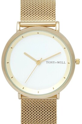 TONY+WILL Lunar Mesh Light Gold TWM005E Watch