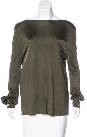 Alexandre Vauthier Long Sleeve Knit Top w/ Tags