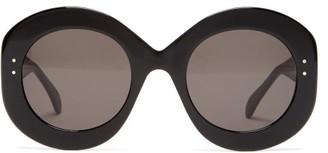 Alaïa Eyewear Alaia Eyewear - Oversized Round Acetate Sunglasses - Black