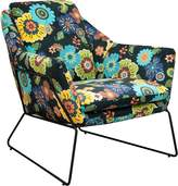 6ixty Armchairs Floral Cube Chair, Floral Ronzy
