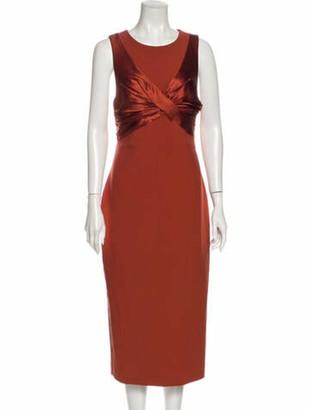 Cinq à Sept Crew Neck Midi Length Dress w/ Tags Brown