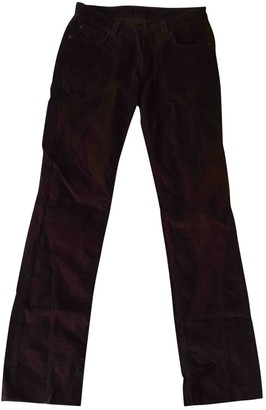 Zadig & Voltaire Burgundy Cotton Trousers