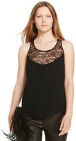 Polo Ralph Lauren Lace-Trim Crepe Tank