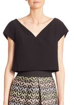 Milly Cropped Cap Sleeve Top