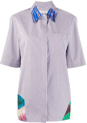 Boon The Shop Striped Patchwork Shirt