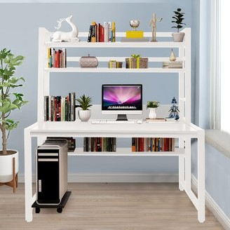 Inbox Zero Simpleness Home Student Computer Desk Color: Black