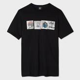 Paul Smith Men's Black Organic-Cotton 'Mascots' Print T-Shirt