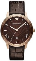 Emporio Armani Men's Classic AR1613 Leather Quartz Watch with Dial