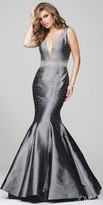 Jovani Embellished Open Back Mermaid Prom Dress
