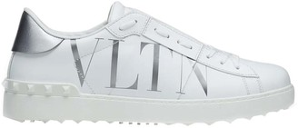 Valentino White Leather Open Sneakers Size 44