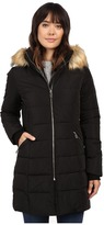 Ivanka Trump Down Coat with Cinched in Sides and Faux Fur Hood