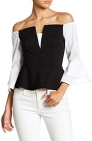 Do & Be Do + Be Off-the-Shoulder Colorblock Blouse