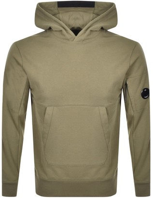 C.P. Company Pullover Logo Hoodie Green
