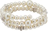 Cezanne Faux-Pearl Coil Bracelet
