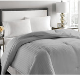 Blue Ridge 500-Thread Count Damask Stripe King White Down Comforter