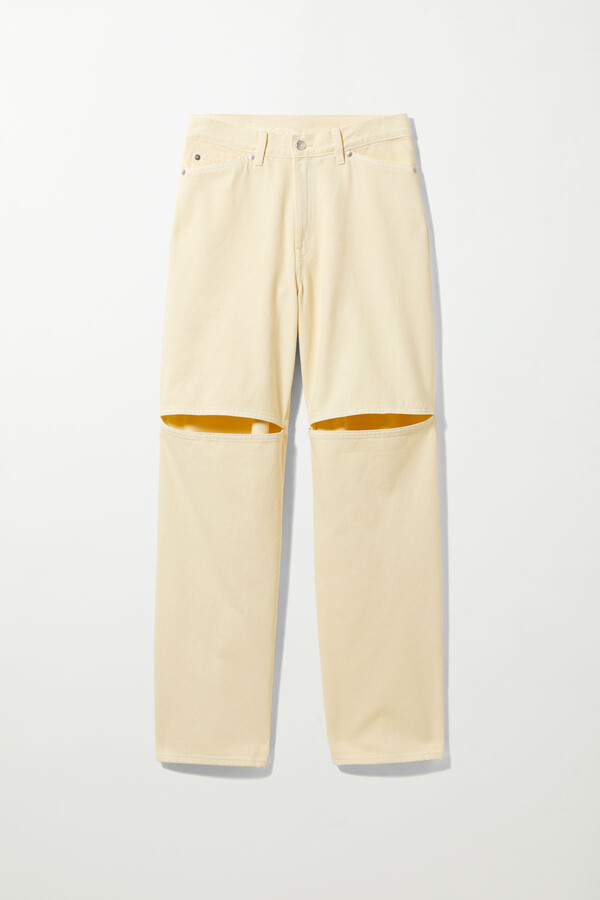 Thumbnail for your product : Weekday Brae Worker Jeans - Yellow