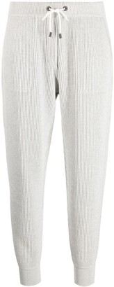 Brunello Cucinelli Cropped Ribbed Track Pants