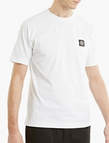 Stone Island White Cotton Logo T-shirt