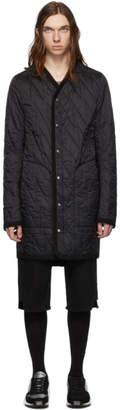Rick Owens Black Snap Front Liner Jacket