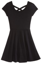 Aqua Girls' Crossback Skater Dress - Sizes S-XL