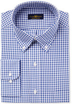 Club Room Men's Classic/Regular Fit Medium Blue Gingham Dress Shirt, Only at Macy's