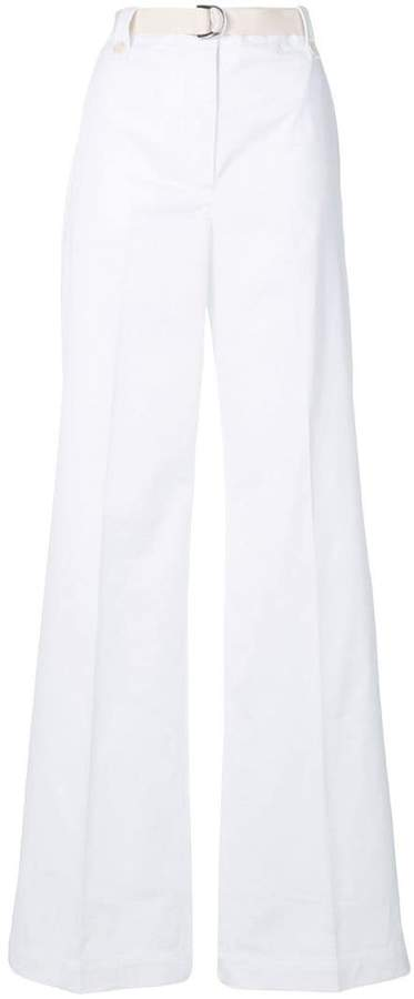 Moncler belted wide leg trousers