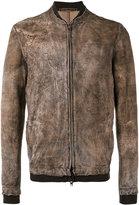 Salvatore Santoro - zipped jacket - men - Leather - 46