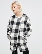 Girls On Film Checked Coat